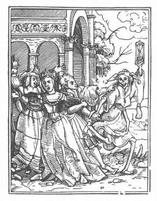 Danse Macabre XI, The Queen, Hans Holbein, 1526-1538.
