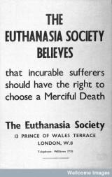 L0028037 Voluntary Euthanasia Society Poster.