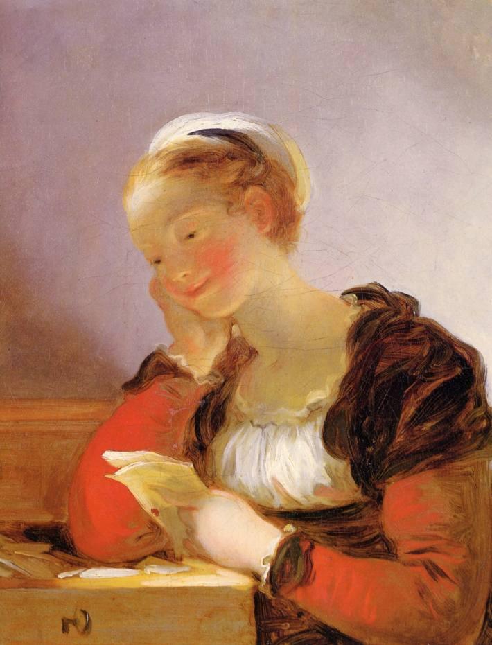 """La lettre."" Jean-Honoré Fragonard."