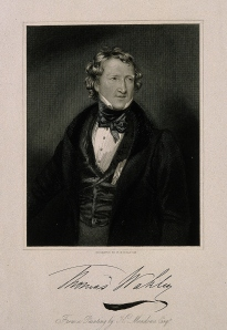 V0006116 Thomas Wakley. Stipple engraving by W. H. Egleton after K. M