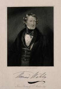 V0006116 Thomas Wakley. Stipple engraving by W. H. Egleton after K. M