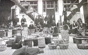image 3 - Basket making at the Institution for the Blind
