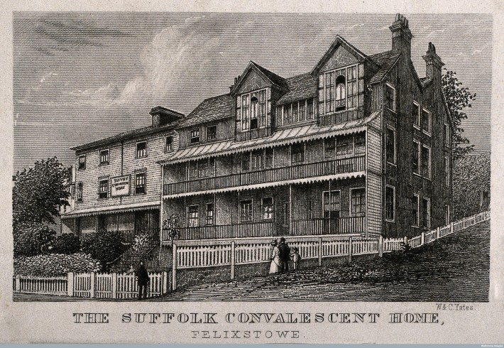 V0012651 Suffolk Convalescent Home, Felixstowe, Suffolk. Line engravi