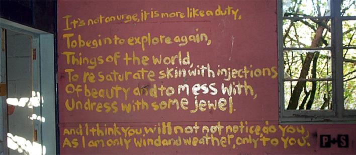 Simon Cornwell, 'It's not an urge, it is more like a duty' Graffiti, © Simon Cornwell