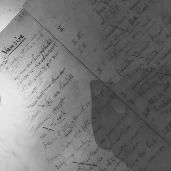 Snapshot of Stoker's working notes for Dracula. © Rosenbach Library.