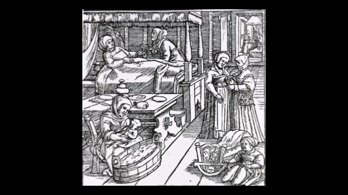 Jakob Rueff, Ein schön lustig Trostbüchle von dem Empfengknussen und Geburten der Menschen, 1554. © National Library of Medicine.